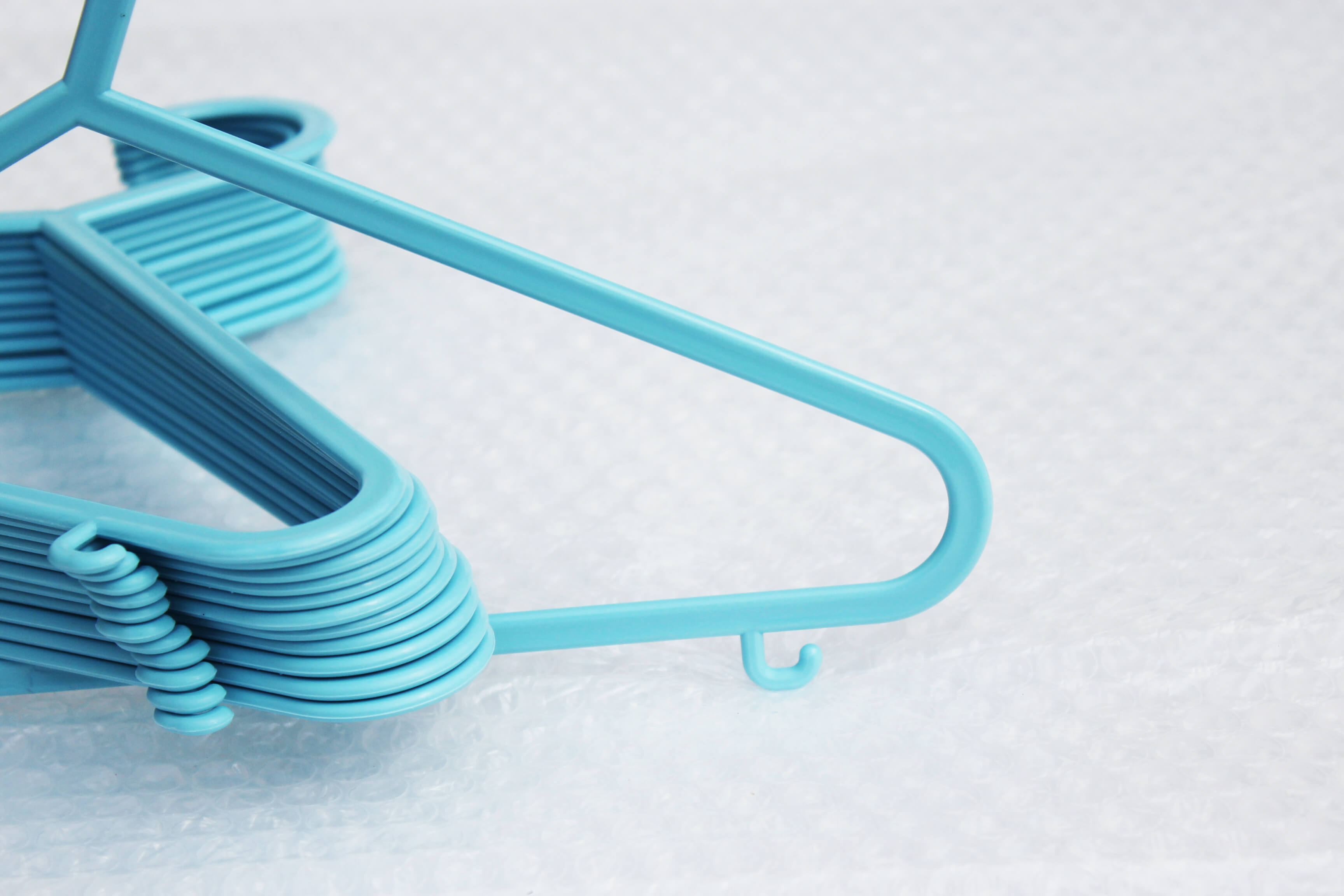 Blue Baby Hangers With Trouser Bar Amp Clips Hangersrus