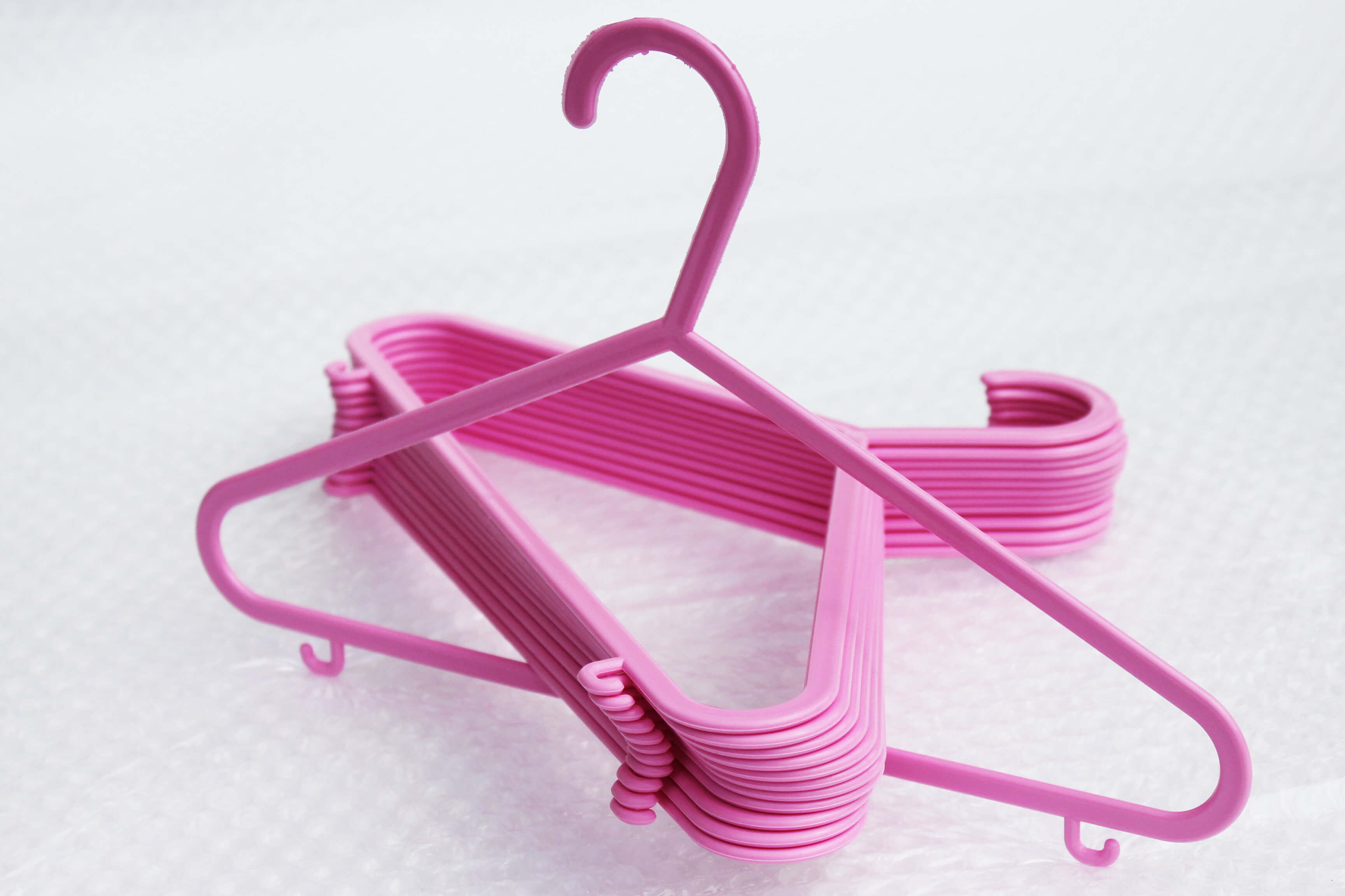 Kids Hangers With Trouser Bar Amp Clips Pink Hangersrus