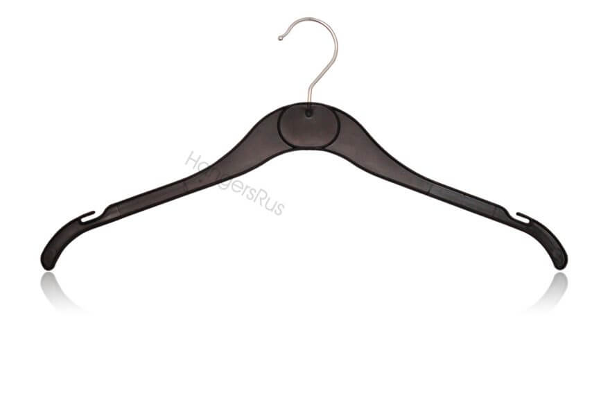 Black Plastic Top Hanger With Swivel Chrome Head