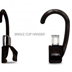 Black Single Clip Hanger
