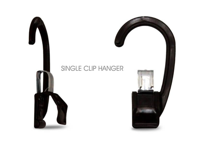 Black Single Clip Hanger