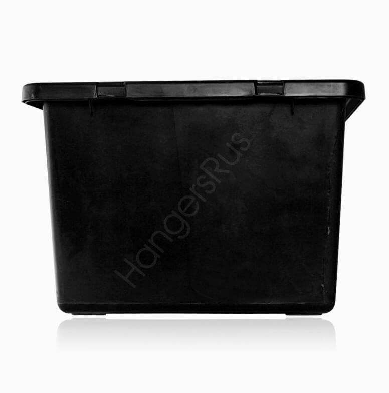 14 Litre Plastic Storage Box Container With Lid Black