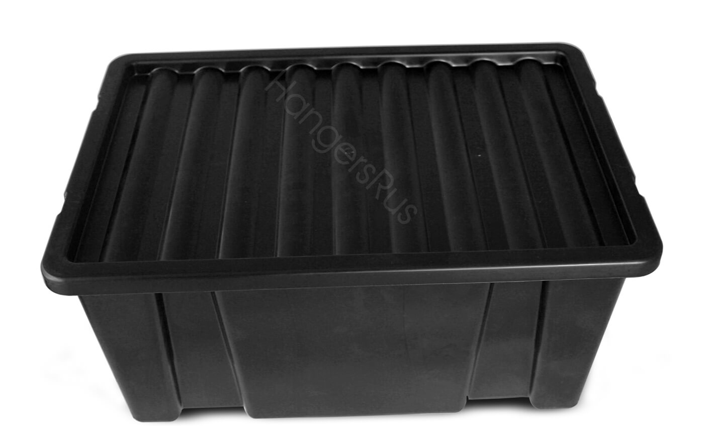 14 LITRE PLASTIC STORAGE BOX CONTAINER WITH LID BLACK Hangersrus